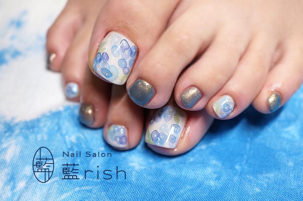 紫陽花ネイル2015