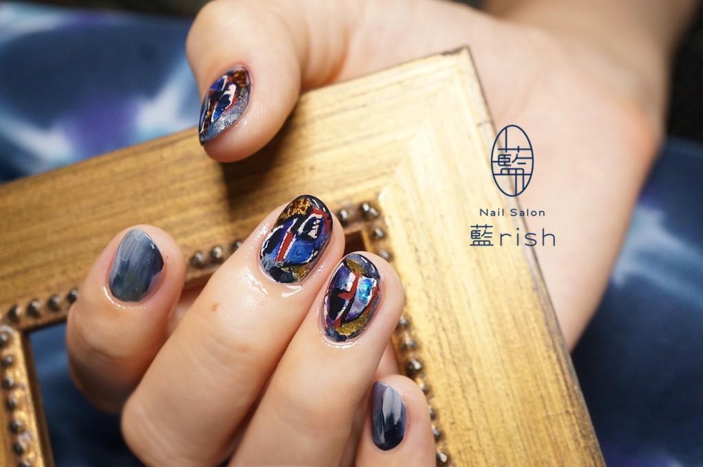 伝統工芸ネイル 螺鈿ネイル